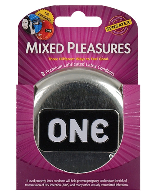 One Mixed Pleasures Condoms- 3 or 12 Pack - XSexStore