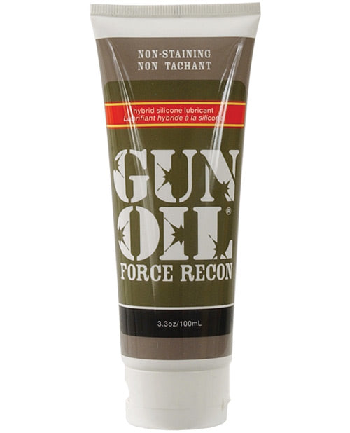 Gun Oil Force Recon Hybrid Silicone Based Lube - 3.3 Oz Tube - XSexStore