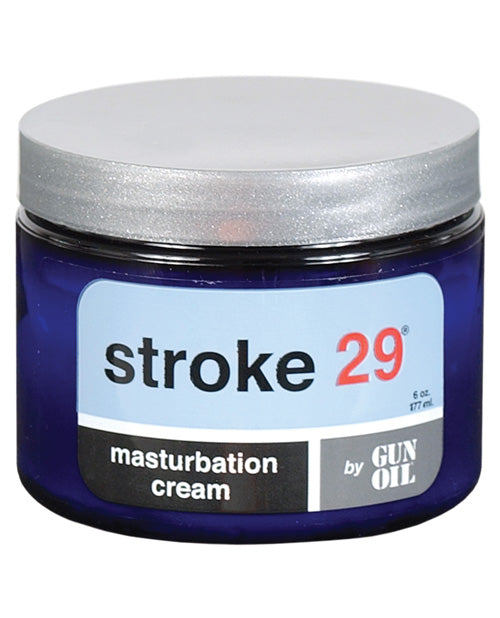 Stroke 29 Masturbation Cream by Gun Oil - 6 Oz Jar - XSexStore