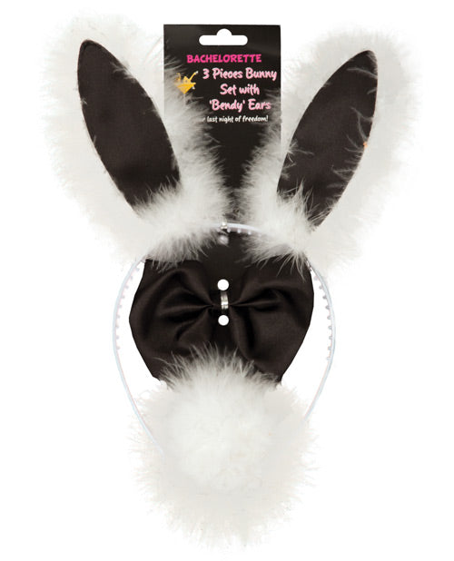 Bachelorette 3 Piece Bunny Set with Bendy Ears - XSexStore