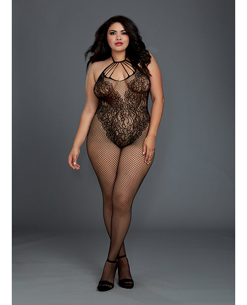 Fishnet Bodystocking with Knitted Teddy Design - XSexStore