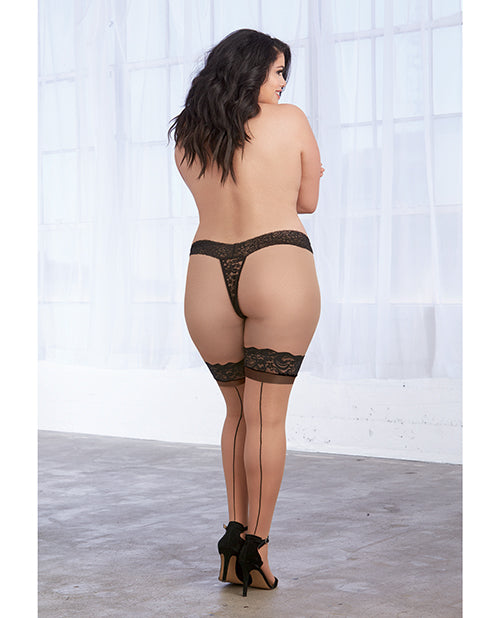 Sheer Thigh High Stockings. Plus Size Available - XSexStore