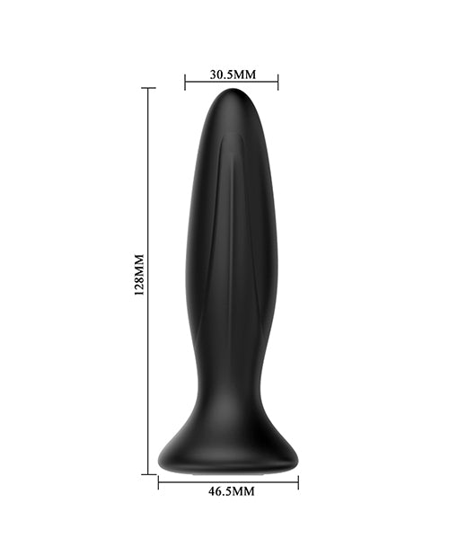 Mr. Play Vibrating Anal Plug - Black - XSexStore