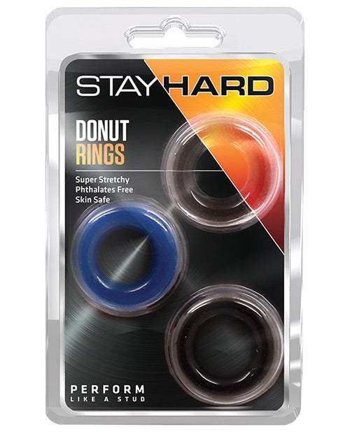 Blush Stay Hard Donut Rings 3-Pack - XSexStore