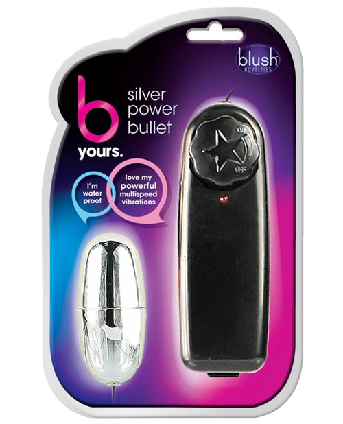 Blush B Yours Silver Power Bullet - XSexStore