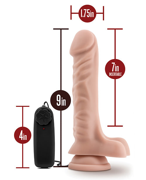 "Dr. Skin 6""-9.5"" Vibrating Dildo with Suction Cup - XSexStore"