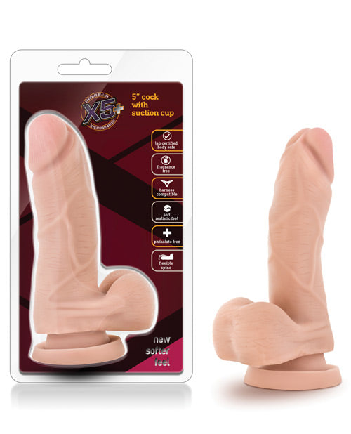 "Blush X5 5"" Dildo with Flexible Spine - XSexStore"
