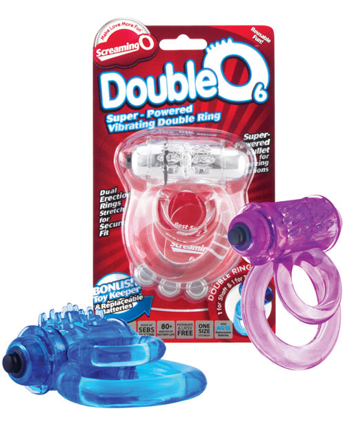 Screaming O DoubleO 6 Vibrating Double Cock Ring - XSexStore
