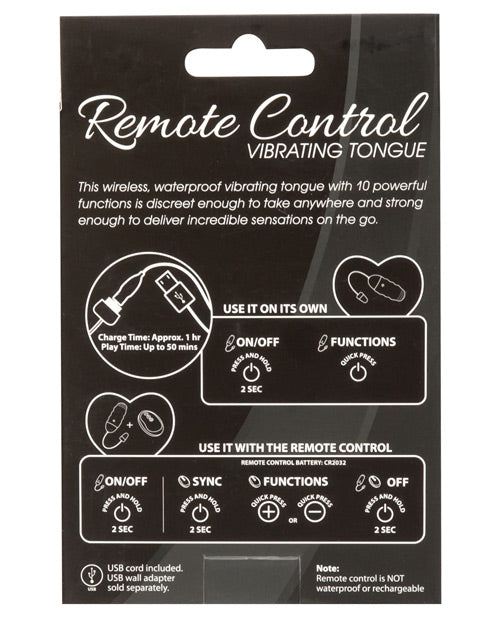 Powerbullet Remote Control Vibrating Tongue - XSexStore
