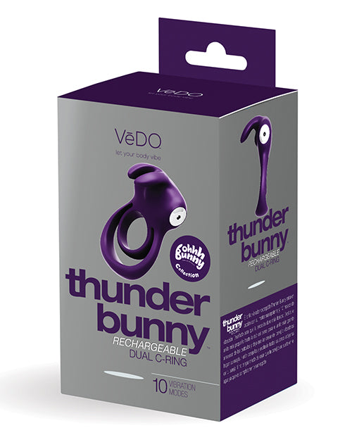 Vedo Thunder Bunny Rechargeable Dual Ring - XSexStore