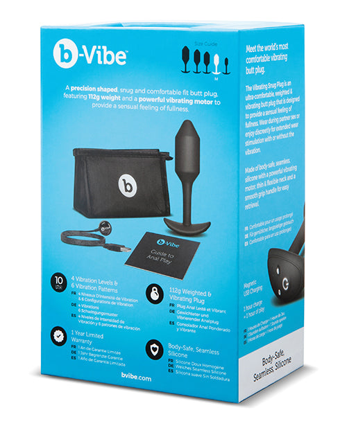 B-Vibe Vibrating Weighted Snug Plug - XSexStore