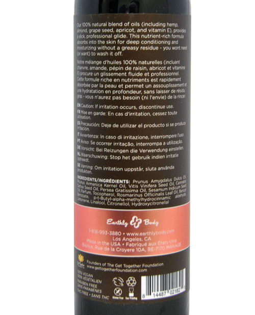 Earthly Body & Massage Hemp Seed Oil - XSexStore