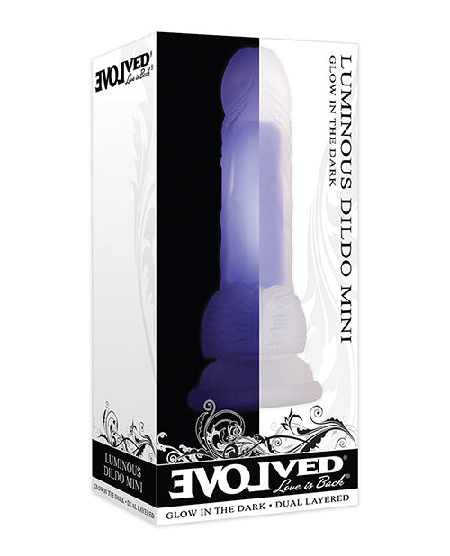 Evolved Mini Luminous Dildo Non-Vibrating - Purple - XSexStore