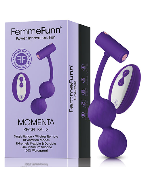 FemmeFunn Momenta Wireless Vibrating Kegel Balls - XSexStore