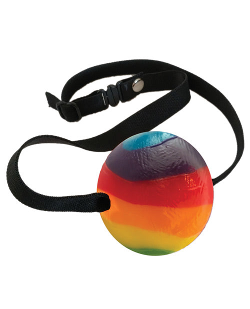 Rainbow Candy Ball Gag - Strawberry - XSexStore