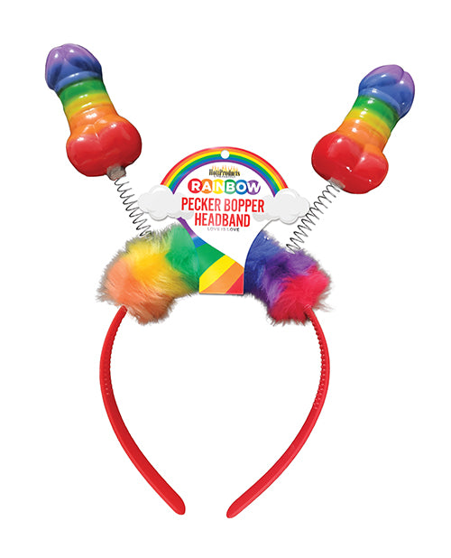 Rainbow Pecker Bopper Headband - XSexStore