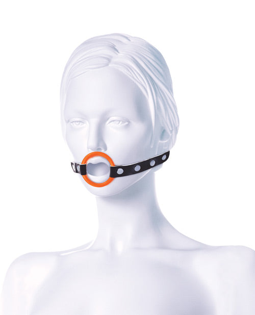 The 9's Orange Is The New Black Blow Gag Open Mouth Leather Gag - XSexStore