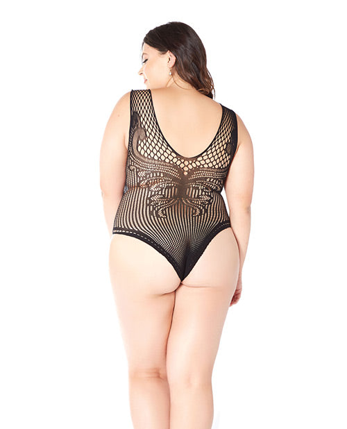 Knit & Patterned Plus Size Teddy - XSexStore