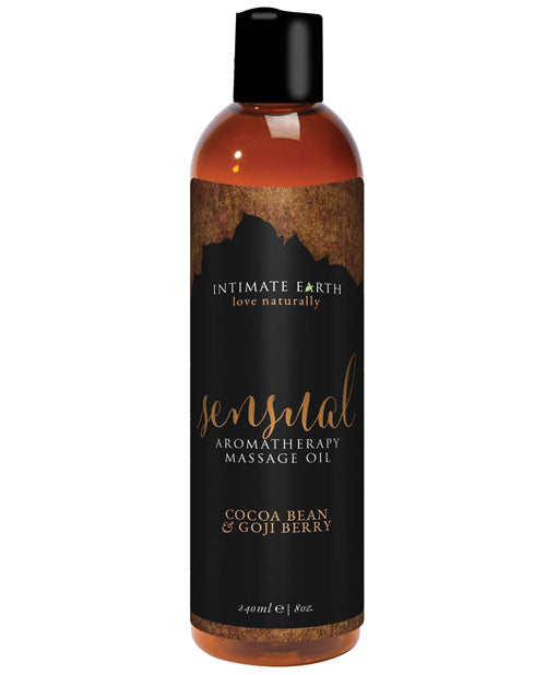 Intimate Earth Sensual Massage Oil - 240 mL Cocoa Bean & Goji Berry - XSexStore