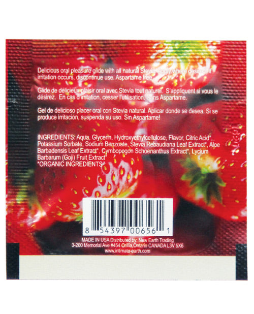 Intimate Earth Lubricant Foil - 3 ml Fresh Strawberries - XSexStore