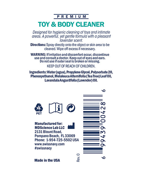 Toy & Body Cleaner - 1 Oz - XSexStore