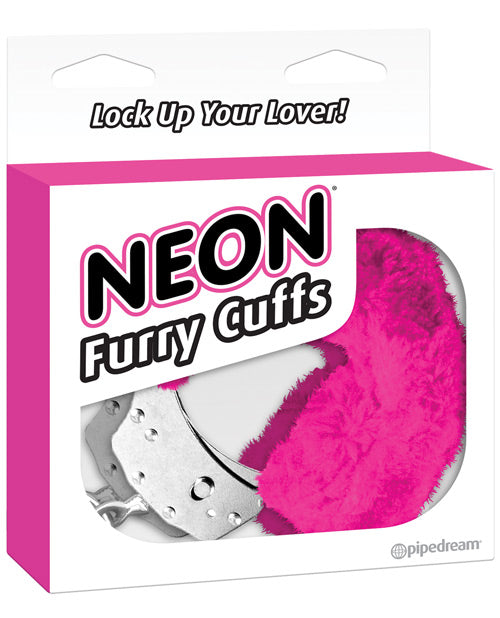 Neon Luv Touch Furry Cuffs - XSexStore