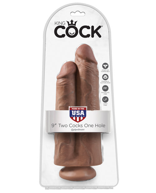 "King Cock 9"" Two Cocks One Hole - XSexStore"