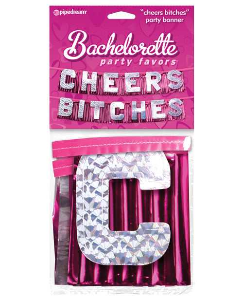 Bachelorette Party Favors Cheers Bitches Party Banner - XSexStore