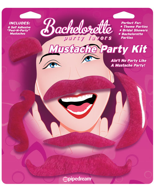 Pipedream Bachelorette Party Favors Mustache Party Kit - XSexStore