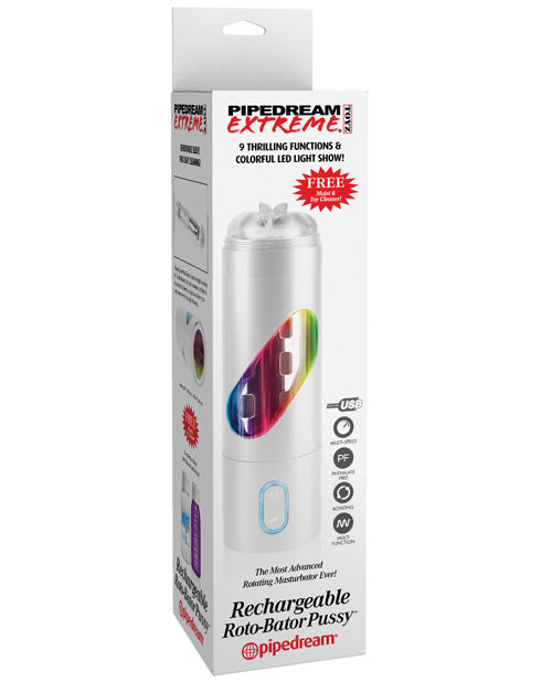 Pipedream Extreme Toyz Rechargeable Roto Bator Pussy - XSexStore