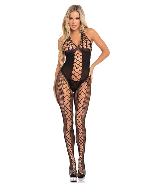 Pink Lipstick Sister Of Mercy Bodystocking Black O-S - XSexStore