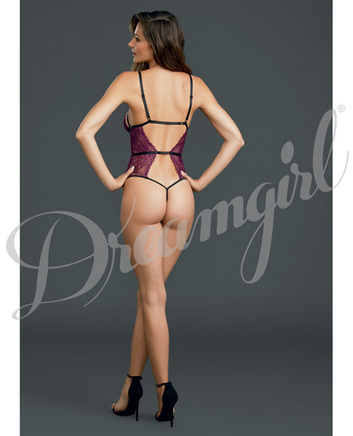 Strappy Backless Lace Teddy - XSexStore