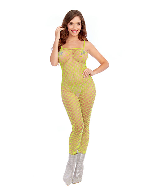 Simply Sexy Versatile Diamond Pattern Open Crotch Body Stocking - XSexStore