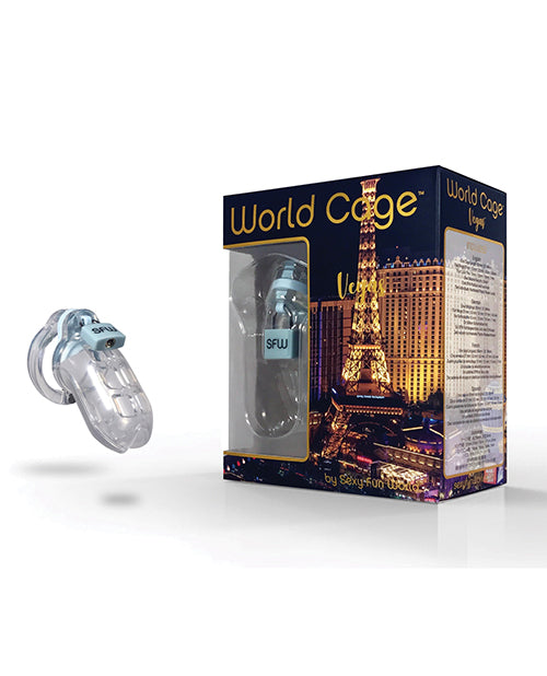 World Cage Vegas Male Chastity Kit - XSexStore