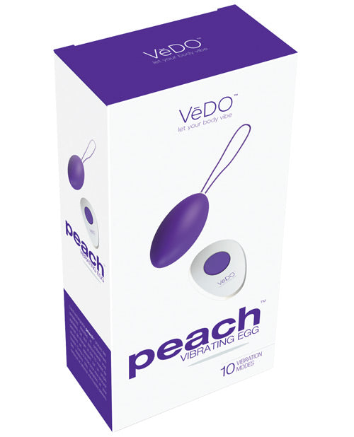 Vedo Peach Rechargeable Egg Vibrator - XSexStore