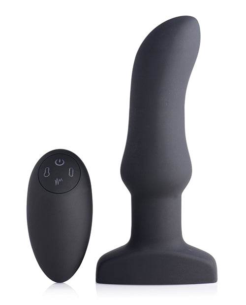 Swell 10x Inflatable & Vibrating Curved Silicone Anal Plug - XSexStore