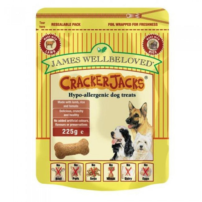 Front - James Wellbeloved Cracker Jacks Lamb Hypoallergenic Dog Treats