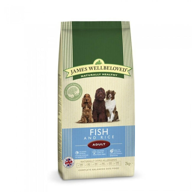 Front - James Wellbeloved Adult Fish And Rice Hypoallergenic Complete Dry Dog Food