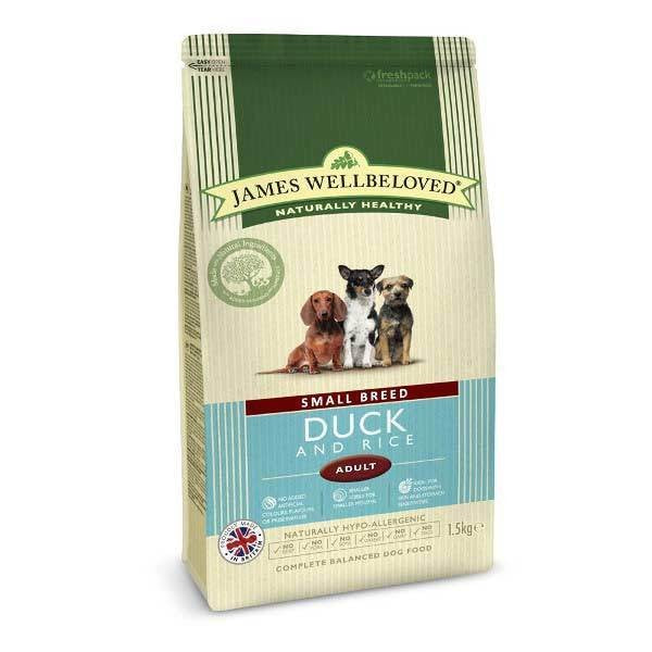May Vary - Front - James Wellbeloved Adult Small Breed Duck And Rice Hypoallergenic Complete Dry Dog Food