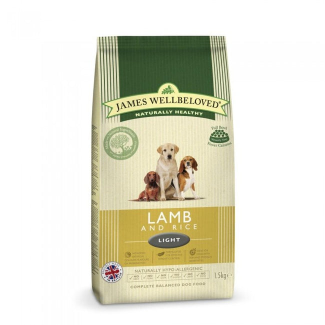 Front - James Wellbeloved Adult Light Lamb And Rice Hypoallergenic Complete Dry Dog Food