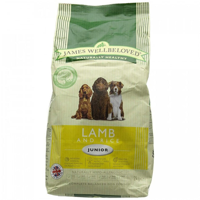 Front - James Wellbeloved Junior Dog Lamb And Rice Hypoallergenic Complete Dry Dog Food