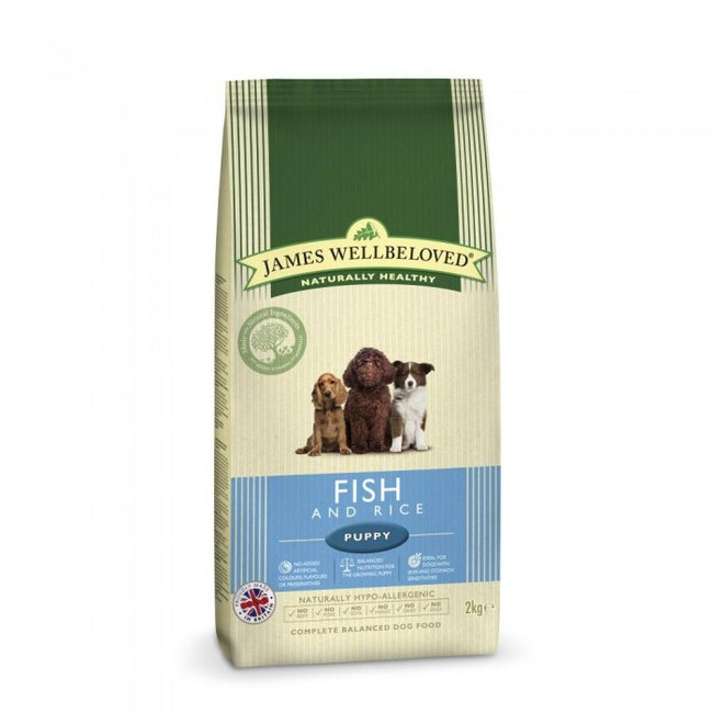 Front - James Wellbeloved Fish And Rice Hypoallergenic Complete Dry Puppy Food