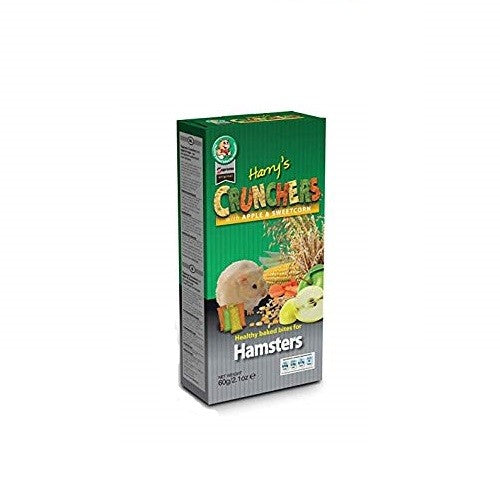 Apple & Sweetcorn - Front - Supreme Harrys Cruncher Bites For Hamsters (8 X 60g)