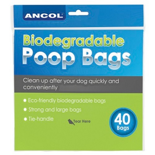 Front - Ancol New Bio Degradable Poop Bags (12 Packs Of 40)