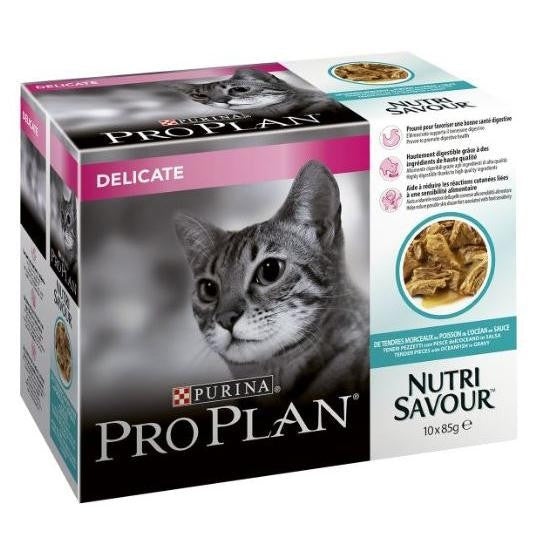 May Vary - Front - Pro Plan Nutrisavour Delicate Complete Wet Cat Food Pouches (4 x 10 Pouches)