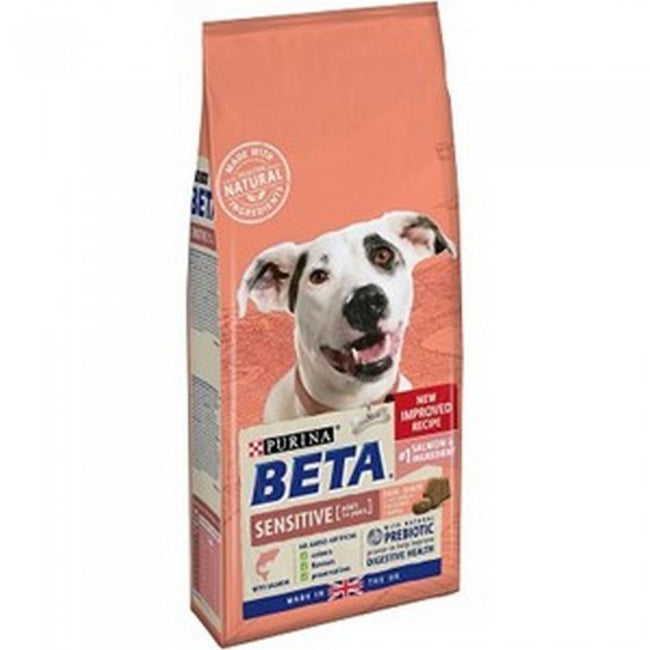 Front - Purina Beta Sensitive Adult Dog Food With Salmon And Rice