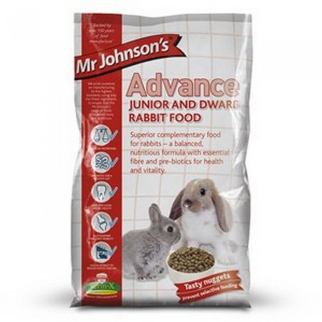 Front - Mr Johnsons Advance Junior & Dwarf Rabbit Food