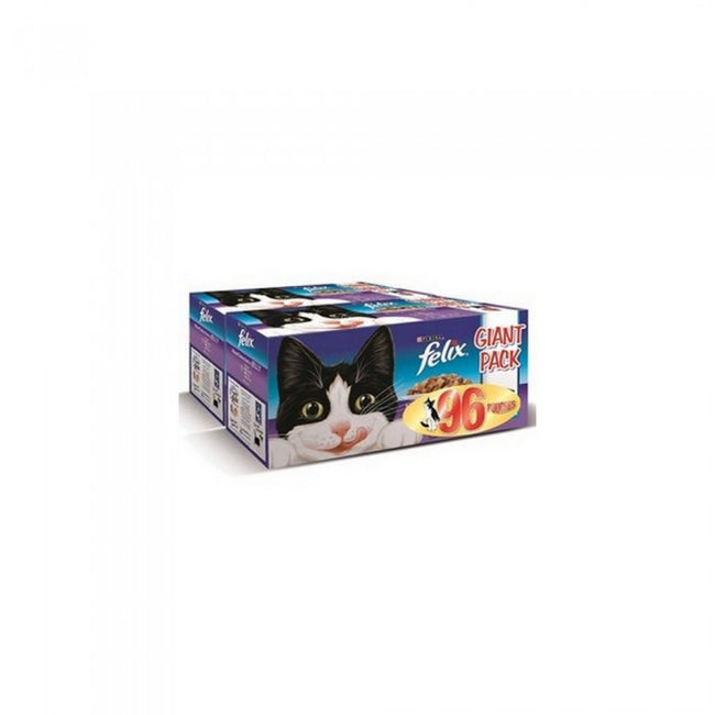 Front - Felix Mixed Selection Chunks In Jelly Wet Cat Food (Pack Of 96)