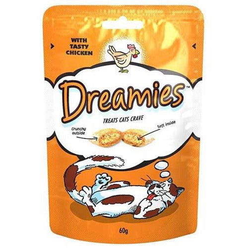 Front - Dreamies Cat Treats (Pack Of 8 X 60g)