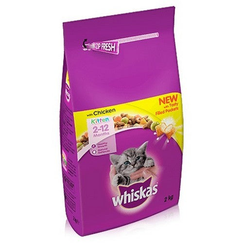 May Vary - Front - Whiskas 2-12 Month Chicken Dry Kitten Food